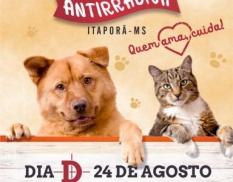"""Dia 24 de Agosto será o dia """"D"""" da vacinação antirrábica em Itaporã"""