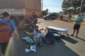 Acidente deixa homem gravemente ferido na Presidente Vargas