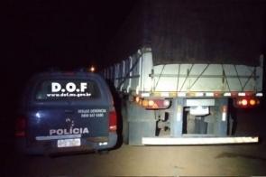 Polícia encontra meia tonelada de agrotóxico escondida em pneus de caminhão