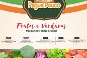 Frutaria Pague Pouco está atendendo seguindo recomendações do Ministério da Saúde