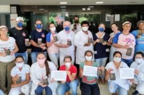 ITAPORÃ: Funcionários do Hospital agradecem empresa Cacau Show por gesto de carinho