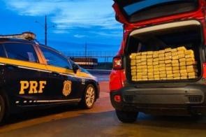 Homem é preso levando mais de 100 kg de maconha para o interior de SP