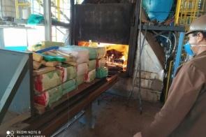 Polícia incinera quase 2,5 toneladas de drogas apreendidas