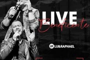 """Nesta quinta-feira (23)  'live' beneficente com dupla sertaneja """"Lu e Raphael"""