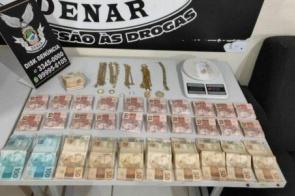 Dona de disque-droga é presa com R$ 13 mil e pasta-base no Guanandi