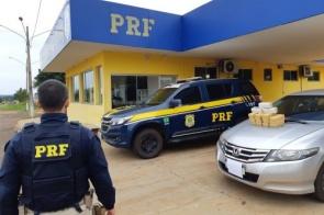 Motorista que transportava criança é presa com 16kg de cocaína pura