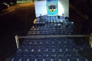 Polícia apreende 242 baterias veiculares sendo transportadas ilegalmente