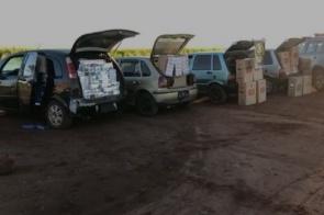 Polícia intercepta comboio com 800 pacotes de cigarros paraguaios