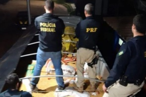 PF e PRF fazem a maior apreensão de drogas da história em MS