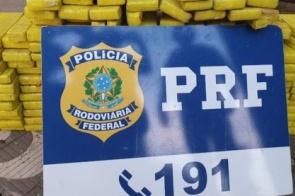 PRF apreende 123 kg de maconha em carros parados no acostamento da BR-163 em Rondonópolis