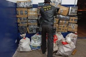 Polícia apreende mais de 700 kg de maconha em residência