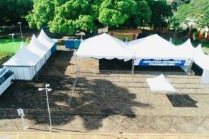 Rio Brilhante: Município monta ambulatório em praça para ampliar atendimento contra covid-19