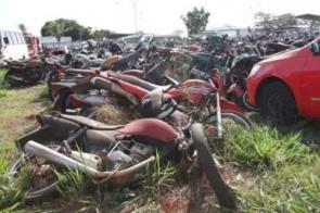 Detran leiloa 60 lotes de motos e 19 carros com lance inicial de R$ 500