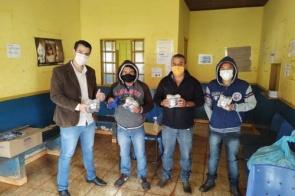 Prefeitura de Douradina realizou a entrega de mil máscaras para os moradores da Aldeia Panambi/Lagoa Rica