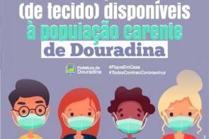 A Prefeitura de Douradina informa que está com máscaras protetoras disponíveis para doação às pessoas carente