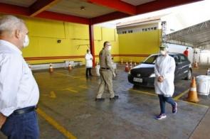 Drive-thru amplia número de testes para Covid-19 em Dourados