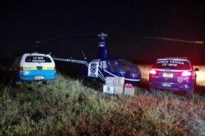 Helicóptero sofre pane e piloto acaba preso com droga no interior de MS