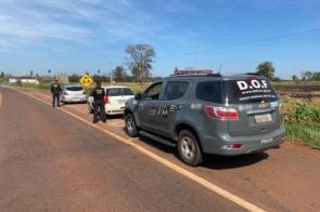 Polícia apreende veículos com mais de 600 quilos de maconha