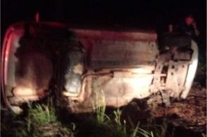 Motorista morre em colisão seguida de capotamento na MS-080