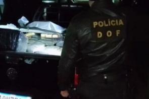 Traficante abandona Saveiro com mais de meia tonelada de droga em mata