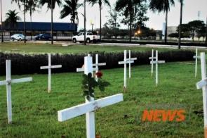 Em dia de ato com cruzes, Dourados já registra a terceira morte por Covid-19