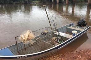 Dois são presos por pesca predatória e porte ilegal de arma e munições