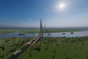 Rota Bioceânica: aberta licitação para projeto de acesso a ponte sobre o Rio Paraguai