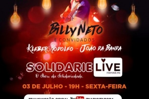 Itaporã terá Live Solidária na próxima sexta-feira 03 de julho
