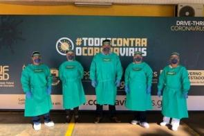 Unimed Dourados cede equipe para a coleta de exames no Corpo de Bombeiros