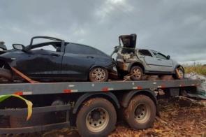 Identificado homem que morreu após capotar veículo com contrabando