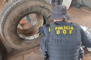 Pneus de carreta escondiam 644 quilos de agrotóxico ilegal do Paraguai