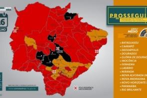 Antes epicentro, Dourados agora aparece com risco médio em relatório sobre a pandemia