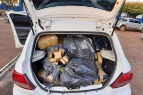 Após perseguição na BR-262, polícia apreende 489 quilos de maconha