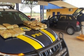Motorista que saiu de Dourados com 20 kg de 'skunk' é preso pela PRF