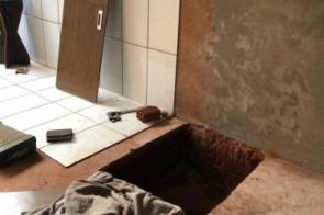 Polícia Civil cumpre mandado de prisão e homem tenta se esconder dentro de um buraco em MS