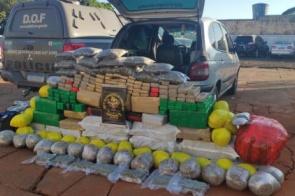 Veículo que seguia para Dourados com mais de 600 quilos de maconha foi apreendido pelo DOF durante a Operação Hórus