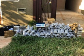 Operação no Los Angeles prendeu cinco e encontrou 106 kg de maconha e skank