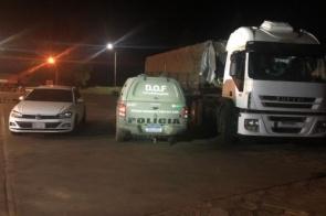 Caminhão que seguia para São Paulo é apreendido com mais de 700 quilos de maconha