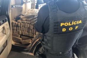 Veículo que seguia para Goiânia com mais de 700 quilos de maconha foi apreendido pelo DOF