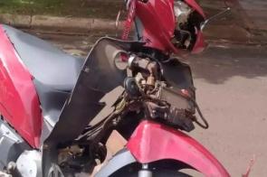Colisão entre moto e caminhonete mata mulher de 30 anos