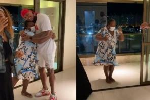 Léo Santana comove fãs ao presentear mãe com um apartamento