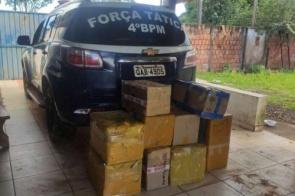 Após perseguição, veículo carregado com produtos contrabandeados é apreendido
