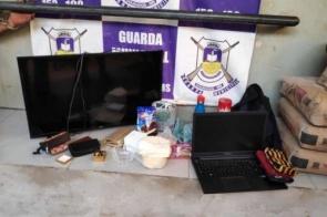Fugitivo do semiaberto é preso e objetos furtados são recuperados