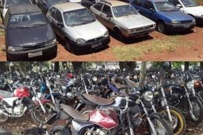 Detran MS realiza leilão de motos e veículos em Dourados para circulação