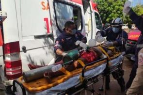 Mulher é esfaqueada na região central e encaminhada ao HV em estado grave