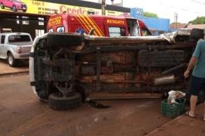 Vítima de colisão em Dourados continua internada em estado grave no HV
