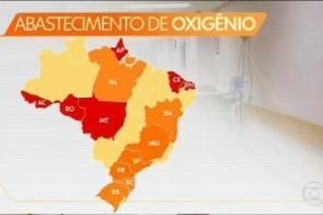 Saúde vê situação crítica de oxigênio em seis estados
