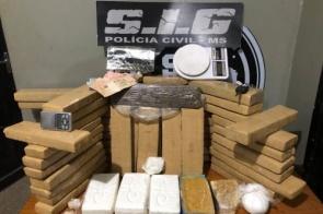 Polícia Civil apreende entorpecentes e suspeitos de tráfico de drogas no interior do MS