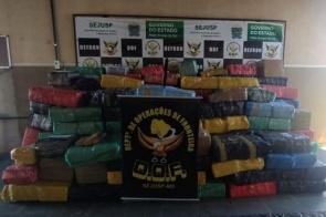 Carreta carregada com arroz é apreendida pelo DOF com quase seis toneladas de maconha