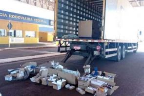 Novo carregamento de contrabando é aprendido em caminhão dos Correios